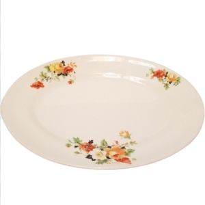 Homer Laughlin rose and poppy K4124 platter